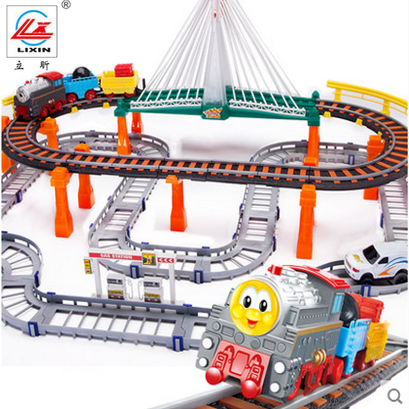 Li xin thomas train car puzzle assembled rail car track suit children's play aids gift free shipping