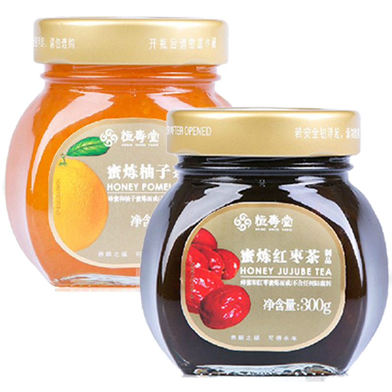 Lian heng shou tang honey jujube tea honey citron tea 300g + 300g each bottle many provinces shipping