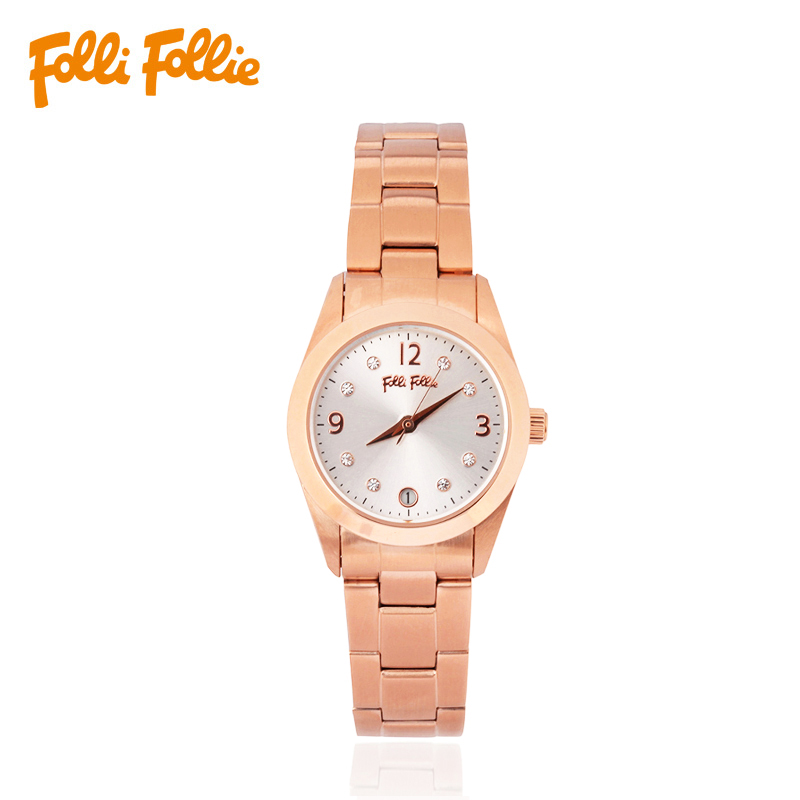Light luxury stainless steel rose gold ladies watch quartz watch WF14R017BTS follifollie folli follie