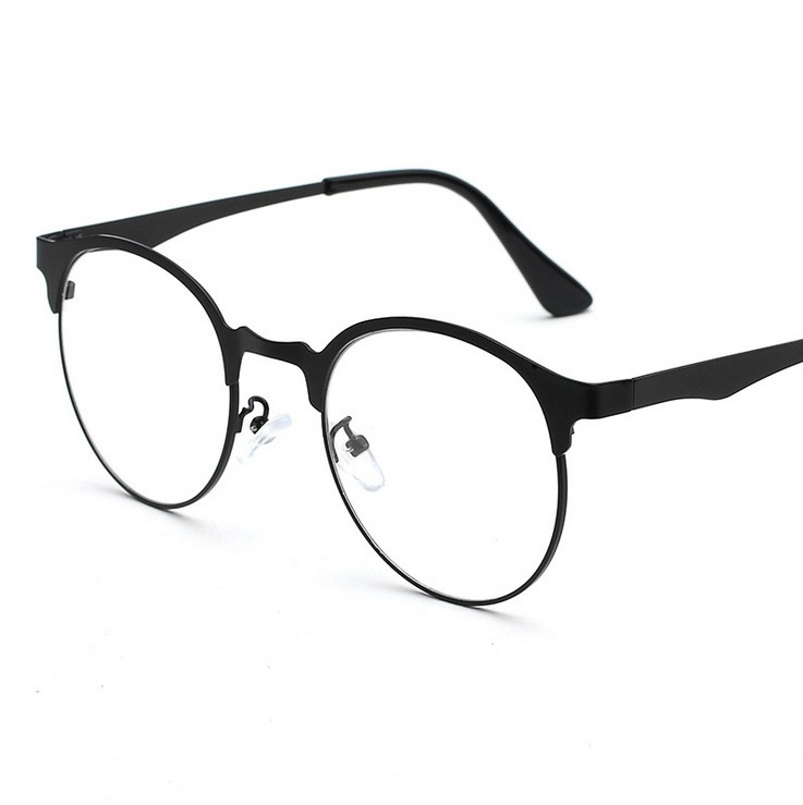 b27cc26da88 Get Quotations · Lightweight retro frames myopia female full frame metal frame  glasses frame plain glass spectacles tide male