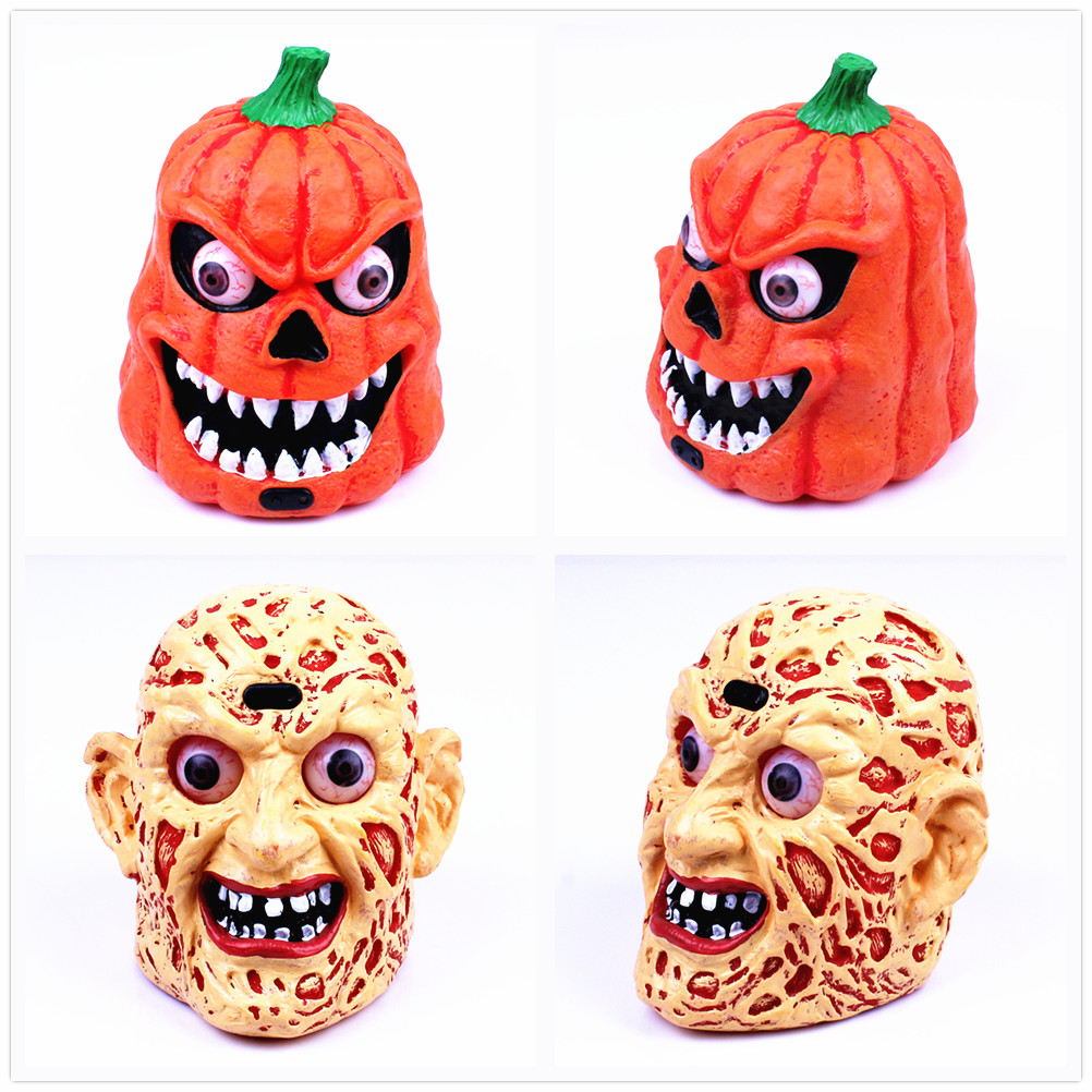Lin fang halloween decoration supplies props 420g sound led small night light lamp luminous pumpkin skeleton ghost light lamps