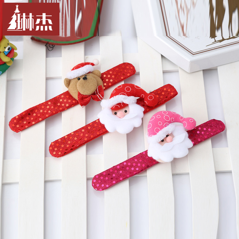 Lin jie christmas pat circle wrist handcuff bracelet bracelet headband christmas decorations christmas gifts for children
