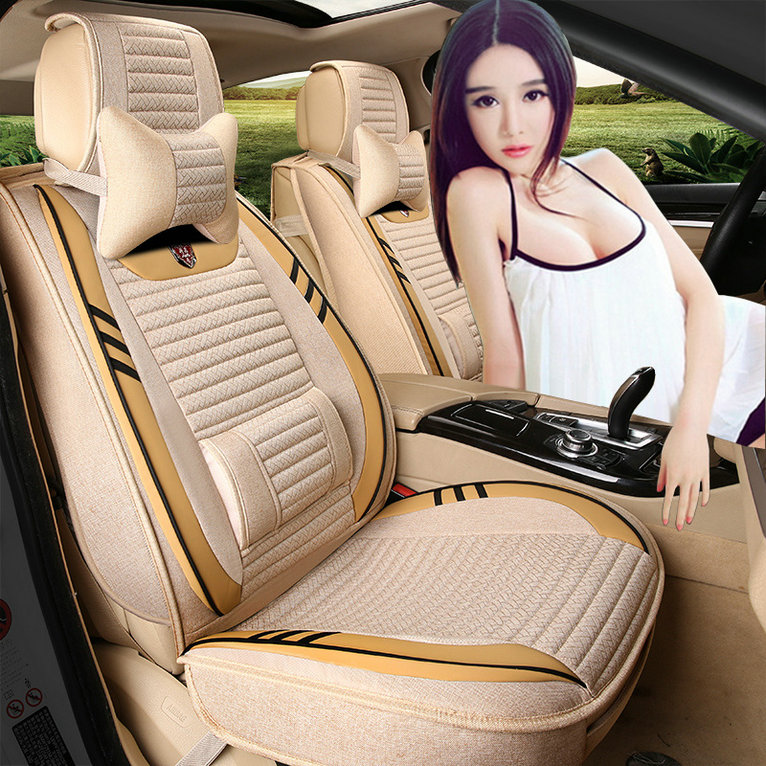 Linen all inclusive car seat cover seat cover new four seasons four seasons general seat cover seat cover fall and winter car seat cover car cover automotive supplies