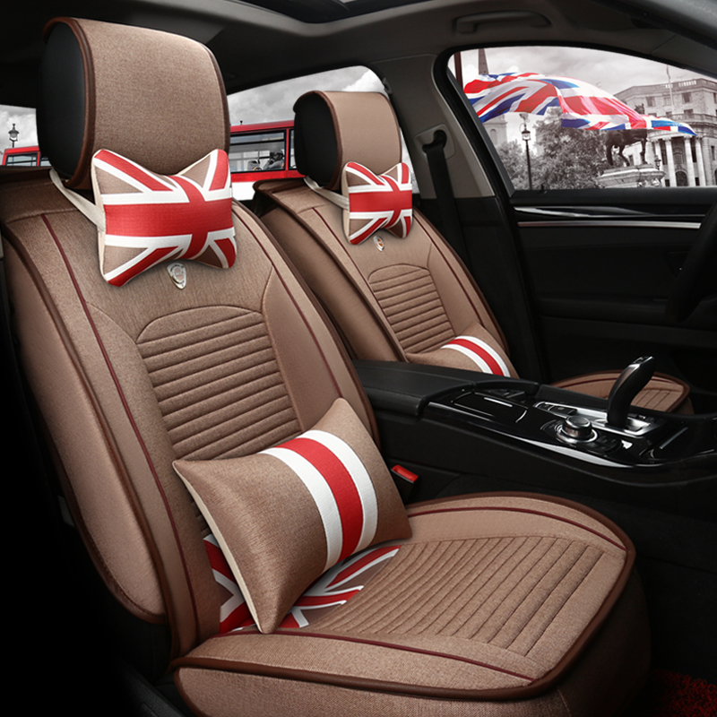 Linen cushion personalized union jack volkswagen nissan modern ix35 car seat cushion four seasons general wholly surrounded by cushions