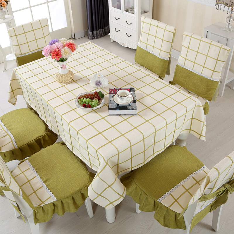 Get Quotations · Linen Table Cloth Upholstery Coverings Dining Chair  Cushion Pad Thick Solid Color Tablecloth Fabric Table Cloth