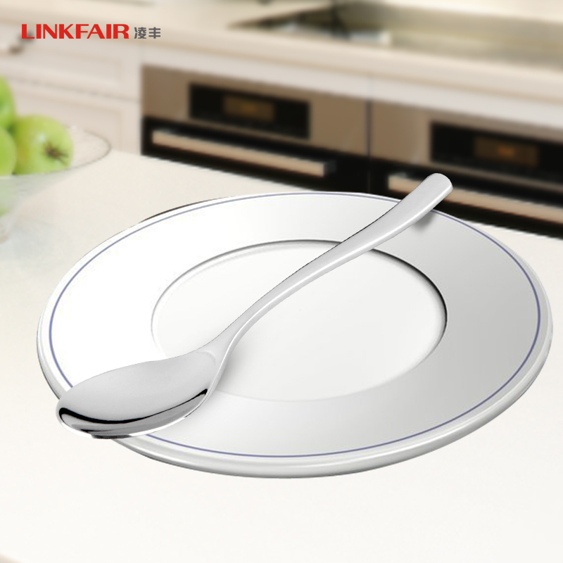 Ling feng 304 stainless steel coffee spoon stirring spoon baby tableware spoon baby spoon children spoon a small spoon