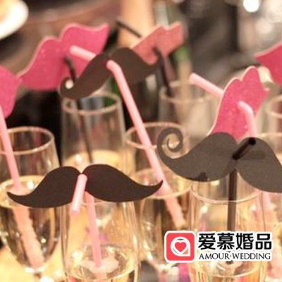 Lips mustache straws 50 creative wedding props wedding birthday baby birthday party decoration pictures supplies