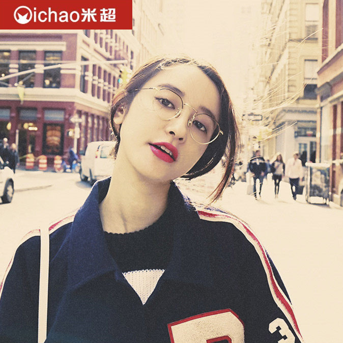 340298408d Get Quotations · Literary retro ulzzang harajuku korean men and women round glasses  frame glasses frame can be equipped