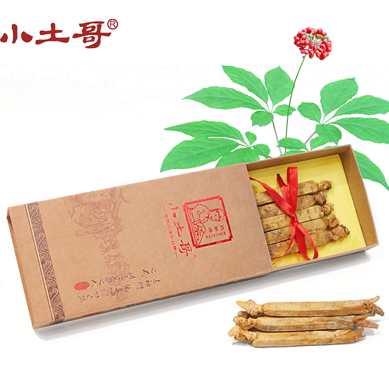Little brother soil 75g box of sugar ginseng red ginseng slices 8 eradicated yellow ginseng changbai mountain red ginseng ginseng Gifts