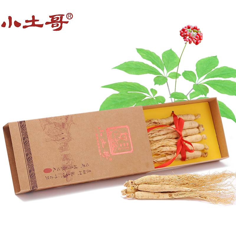 Little brother soil ginseng white ginseng 75g changbai mountain ginseng ginseng ginseng infuse fresh ginseng ginseng northeast specialty gift