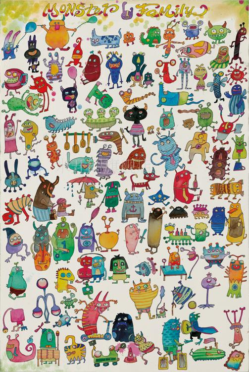 Little monster family woodiness 5000 adult jigsaw puzzle 1000/500/2000 children's cartoon toys chi yi