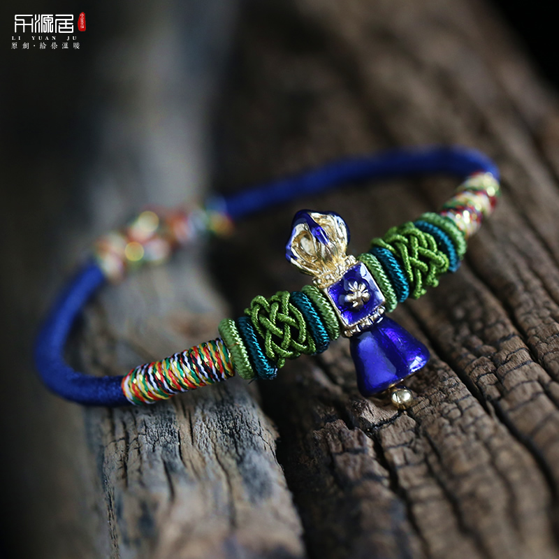 Liyuan habitat opening diamond knot bracelet hand rope to help academic career wisdom qualify for male and female red string custom hand made