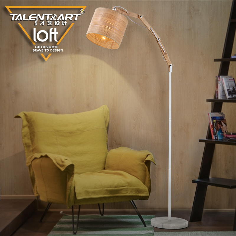 Loft nordic american ikea modern minimalist fashion creative living room bedroom bedside lamp wall lamp wrought iron wood floor lamp