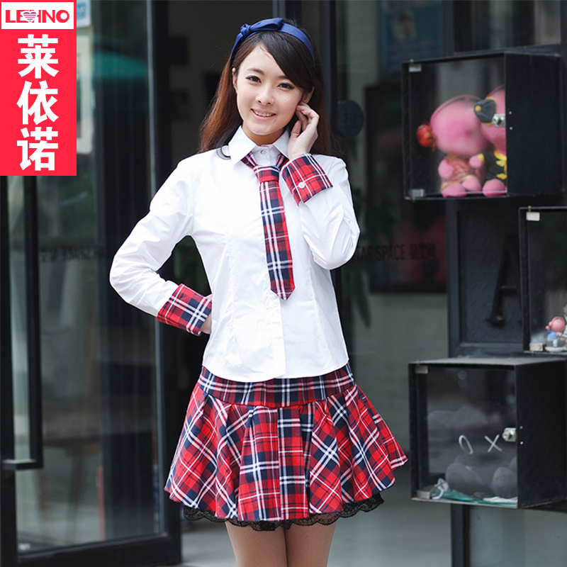 Long sleeve korean version of the students in japan and south korea sailor uniforms girls school uniforms school students loaded class service