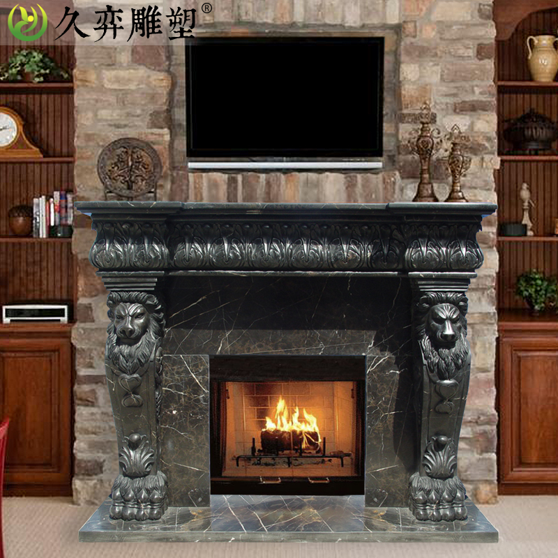 [Long yi sculpture] continental carved marble fireplace mantel fireplace decoration cabinet custom import marble