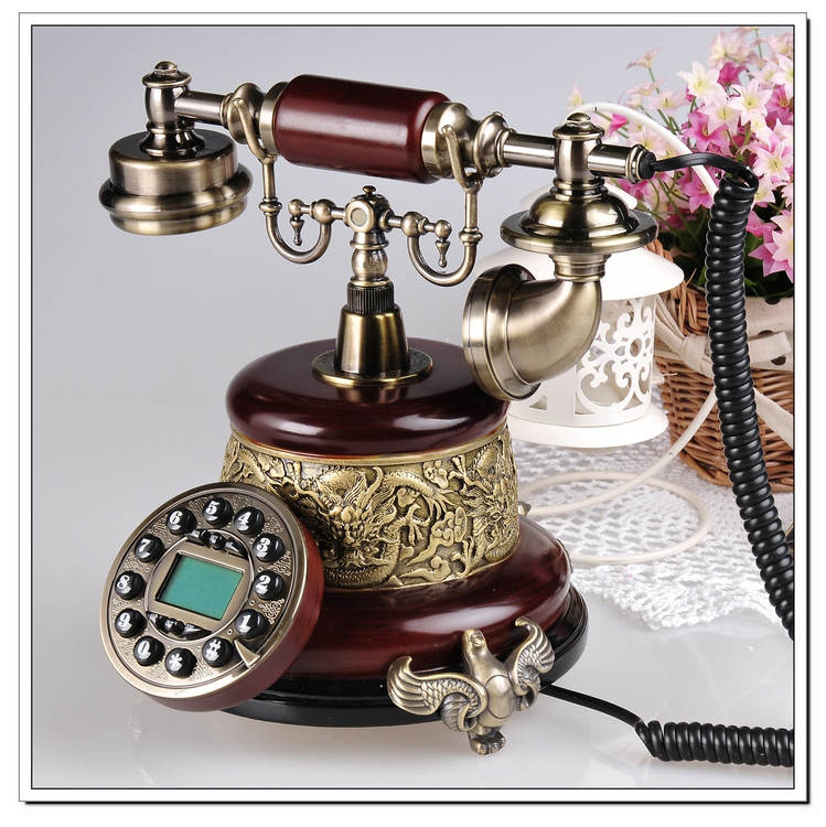 Look win european fashion creative retro telephone antique telephones dimensional relief upscale villa home landline