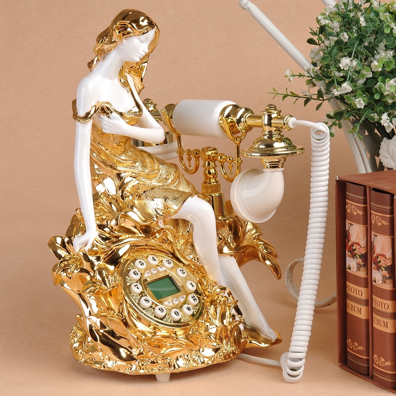 Look win european retro fashion creative phone relief creative upscale home landline telephone antique telephones