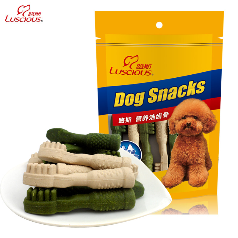 Loos 270g samoyed puppy dog teeth stick molar tooth cleaning bone bone dog bone head bichon dog treats