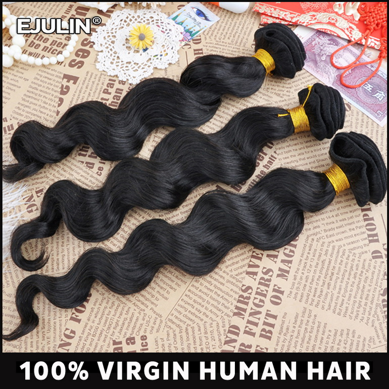 Loose wave color 1 # peruvian hair extension best quality