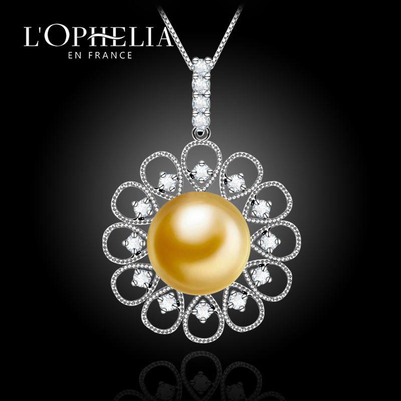 Lophelia seawater perfect circle nanyang kim pendant gold pearl send k gold necklace gift for her mother