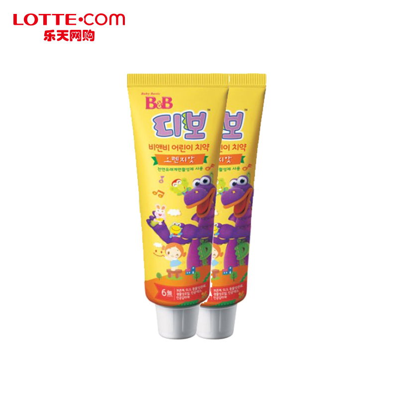 Lotte lotte 80g2 online shopping b & b boryeong children moth mouthguard toothpaste two loaded korea authentic imported direct mail