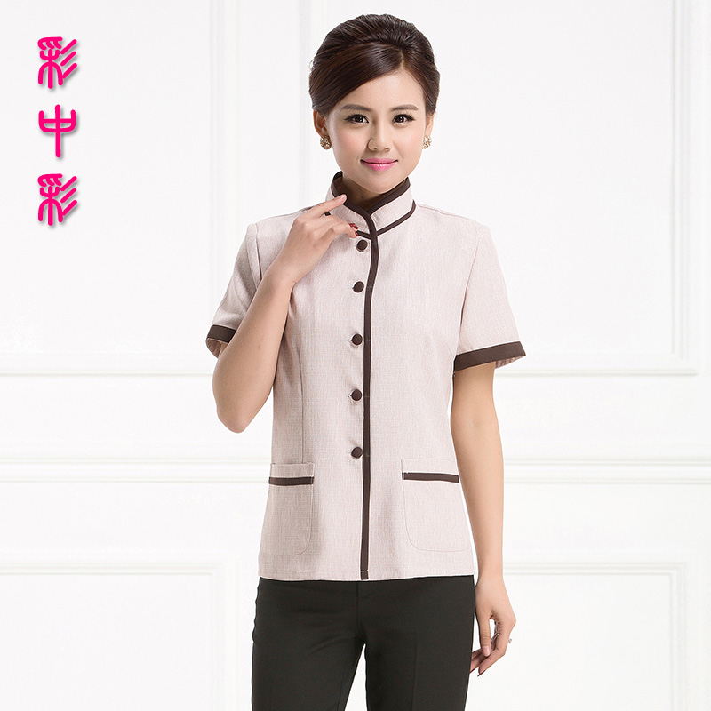 Lottery color short sleeve cleaning service hotel uniforms summer female aunt pa hotel room cleaners cleaning clothes short sleeve