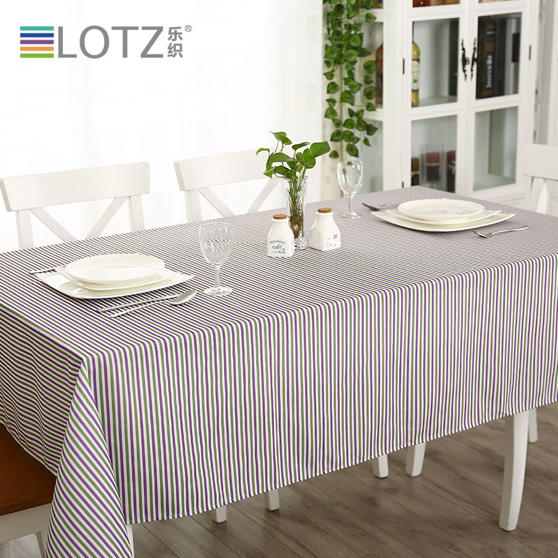 Lotz mood for love series striped tablecloth fabric fashion pastoral coffee table cloth table cloth customized deals