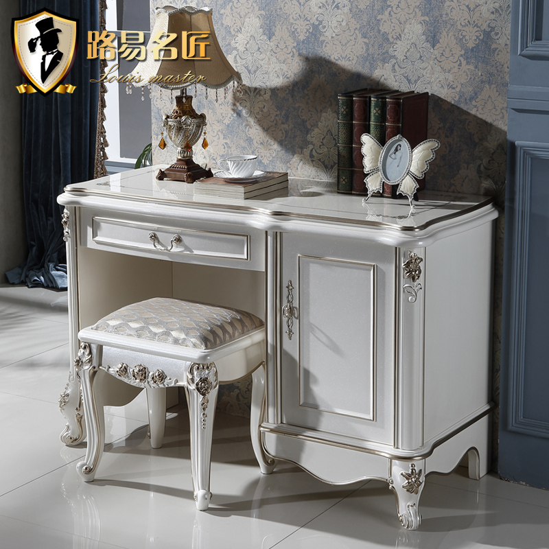 Louis artisan european upscale office desk computer desk desk desk white gilt home desktop computer desk desk desk