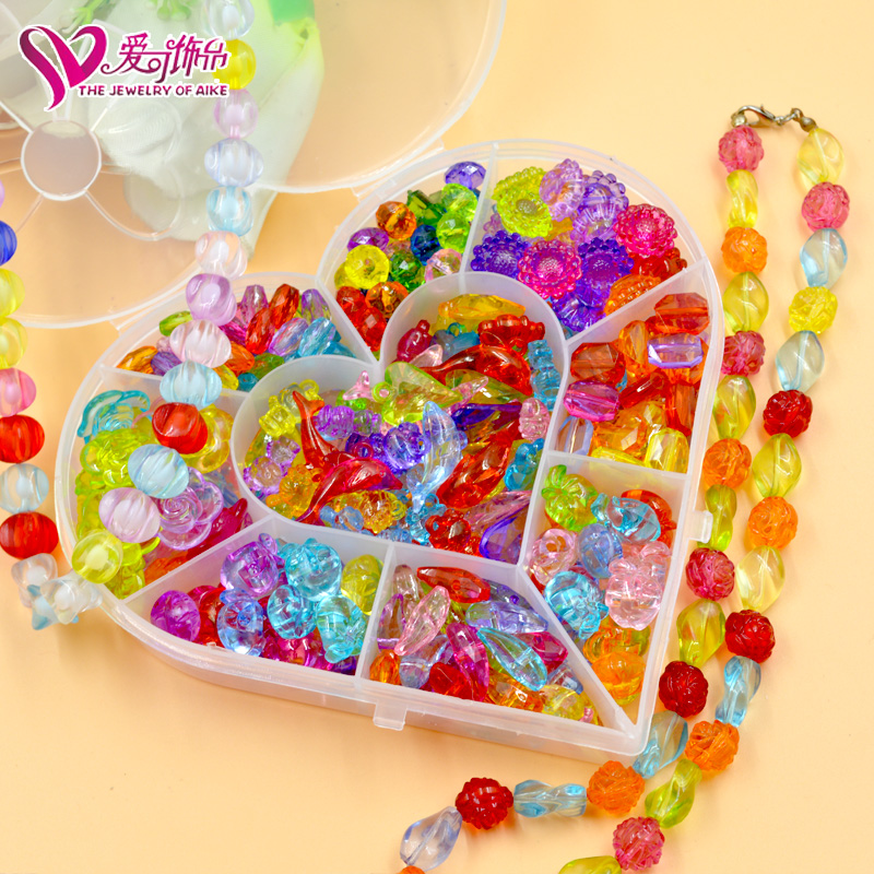 Love can be prepared 9 grid diy creative puzzle handmade beaded jewelry bracelet necklace amblyopia training wear beads years old