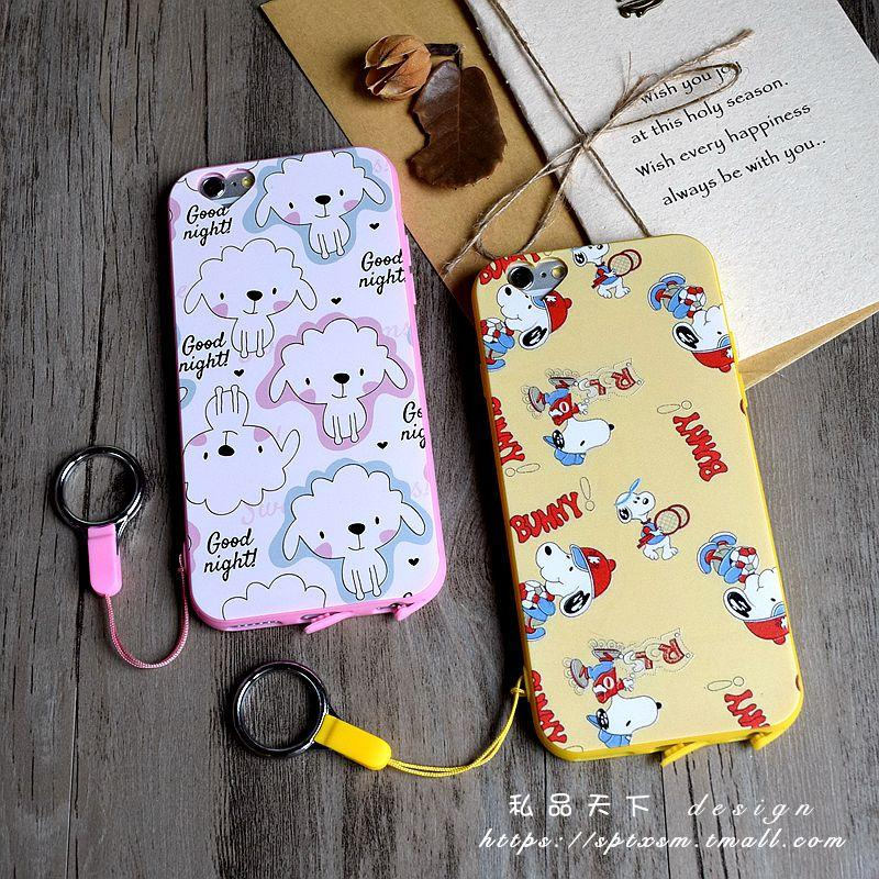 Love dust plug hole iphone6SPLUS whole package phone shell apple slim soft 5. 5 relief cute sheep