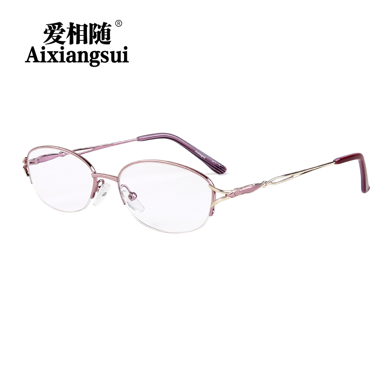 Love follows ms. comfortable and stylish portable reading glasses reading glasses anti fatigue radiation half frame reading glasses reading glasses 5910