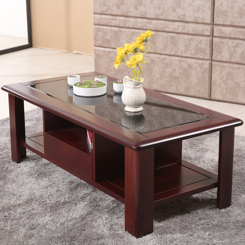 Love green living modern chinese ash wood coffee table coffee table with storage draw 1.4 m wooden coffee table tea table