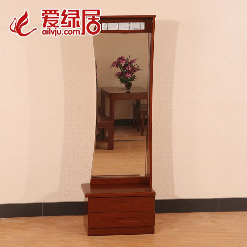 Love green living wood hangers wooden coat rack mirror new chinese modern chinese furniture dressing mirror dressing mirror