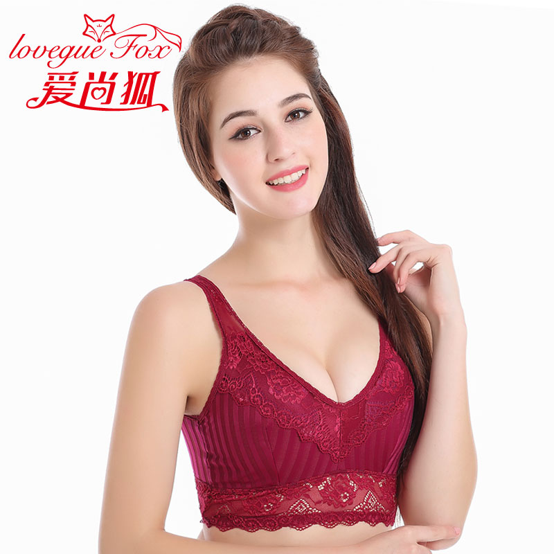 3465c1e3286 Get Quotations · Love is still the fox new breathable lace striped vest ms. seamless  underwear gather thin