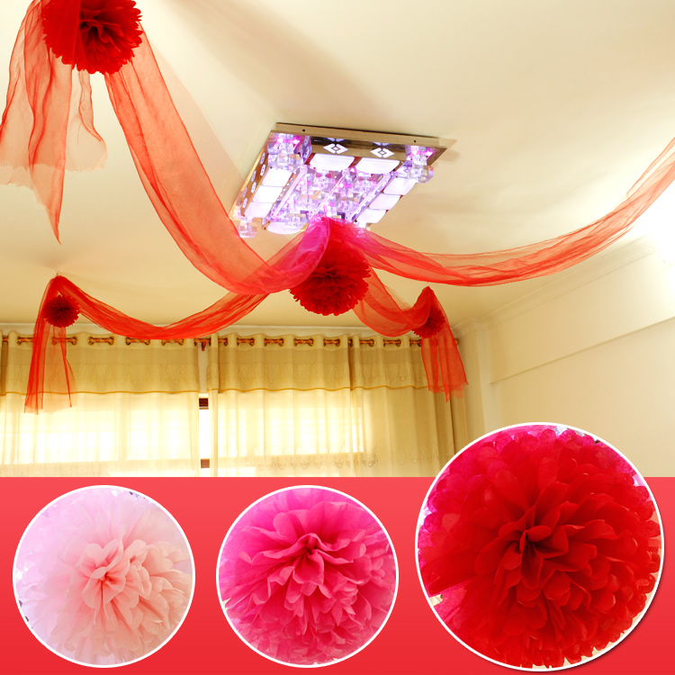 Love marriage wedding supplies wedding marriage room layout peony flower ball wedding garland shaman european decoration package