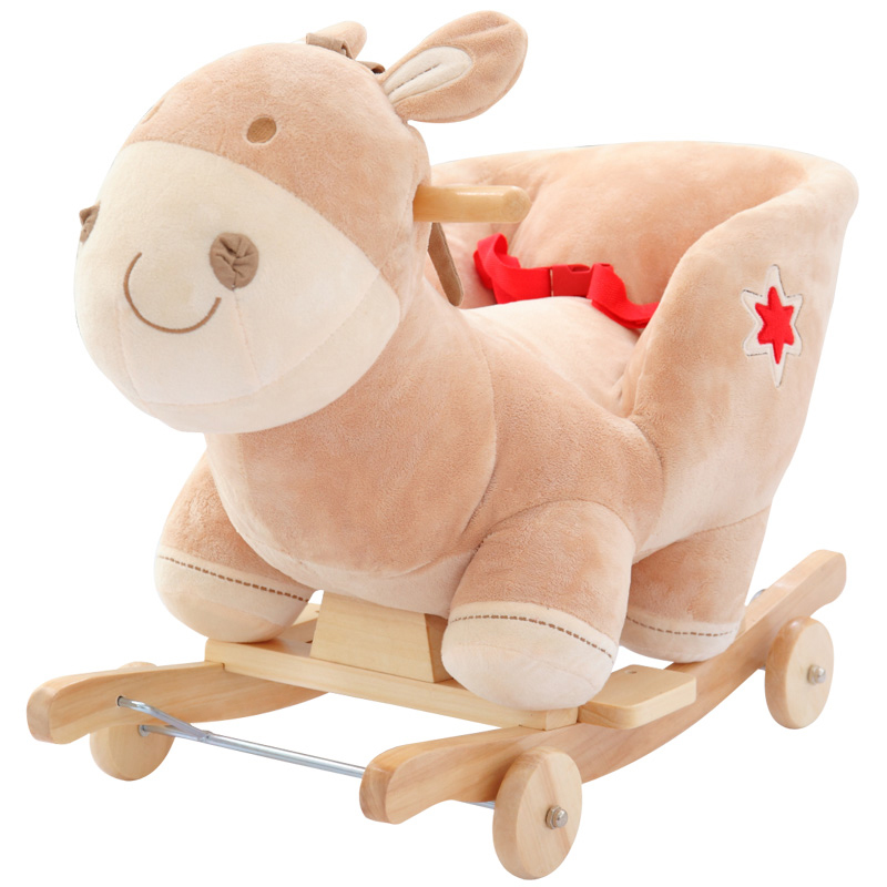 Love piggy early childhood toys cute ass music baby rocking horse shook trojan queen embroidered gift