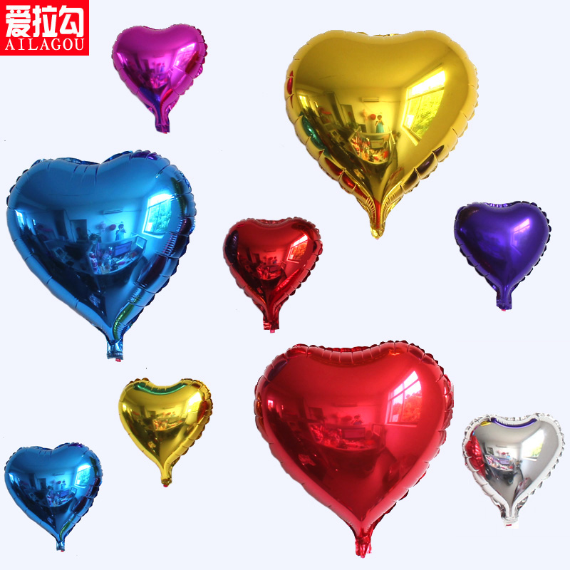 Love romantic marriage room layout balloon shaped aluminum foil balloons balloon wedding decoration holiday party ideas