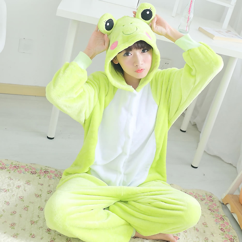 Get Quotations · Lovely autumn and winter coral flannel sleeping siamese  frog cartoon couple of men and women clothing 311428a11