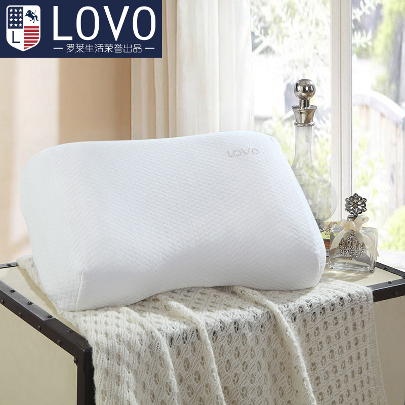 Lovo produced carolina textile music i rubber imported from thailand latex pillow pillow pillow neck pillow to protect the cervical spine