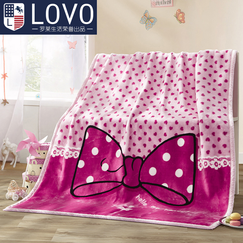 Lovo produced carolina textile raschel blanket blanket air conditioning blanket children's cartoon soft thick three election
