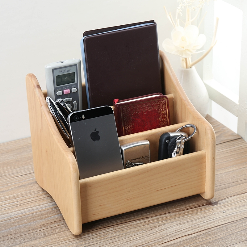 Lowe remodulade solid wood storage box remote control creative wooden office desktop storage box coffee table coffee table storage rack