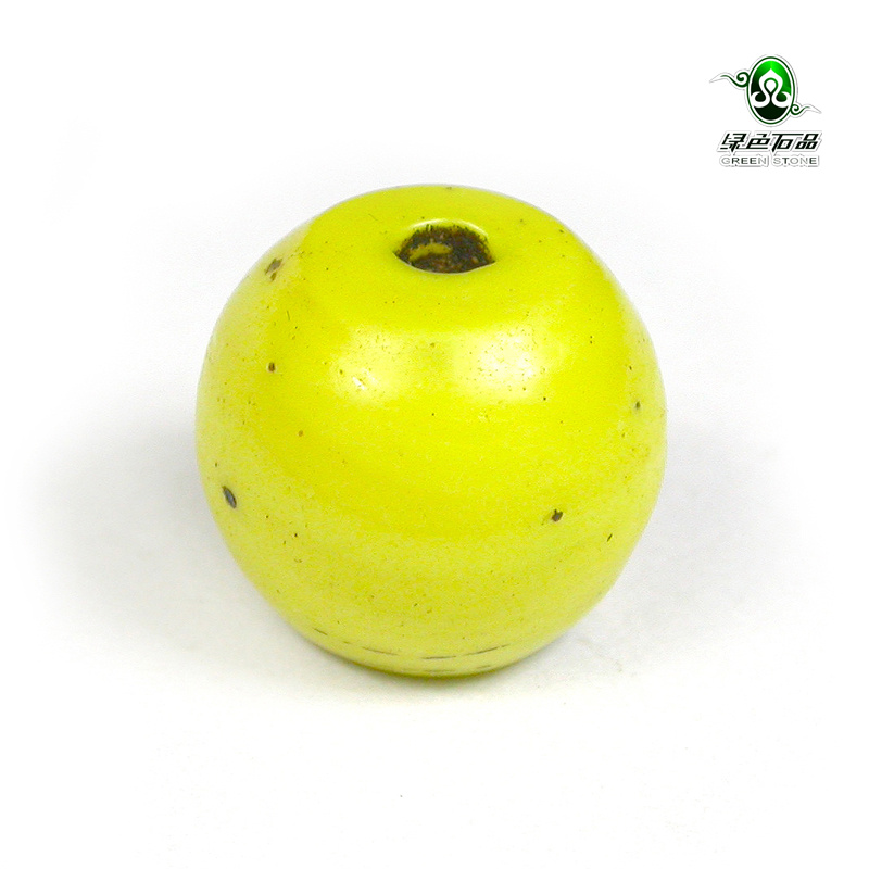 Lssp/green stone product does not bargain tibetan as902 mango yellow glass beads glass beads loose beads with beads diy