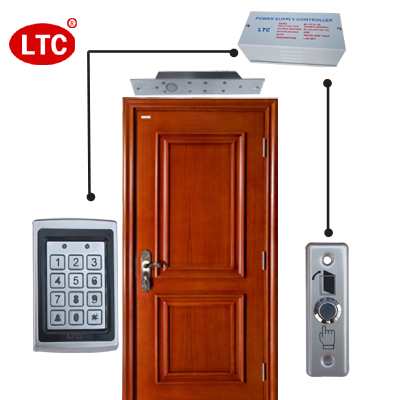 Ltc brand/electronic access control systems/brush id and password to open the door/metal without brim/access kit kit Shipping