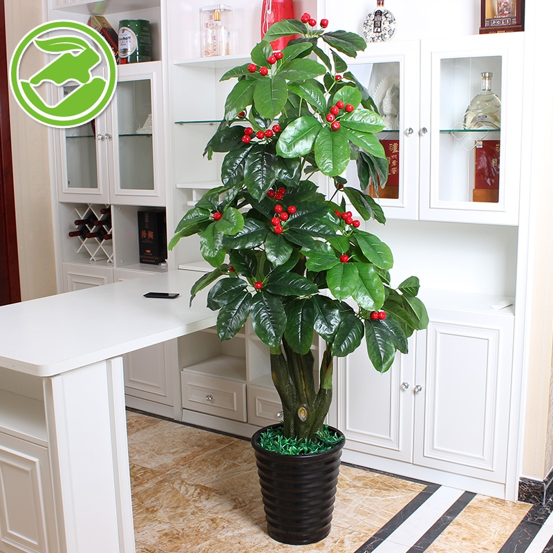 Lucky fruit trees flower simulation flowers to suit artificial flowers artificial flowers plastic flowers tall decorative pots planted bonsai living room furnishings pieces