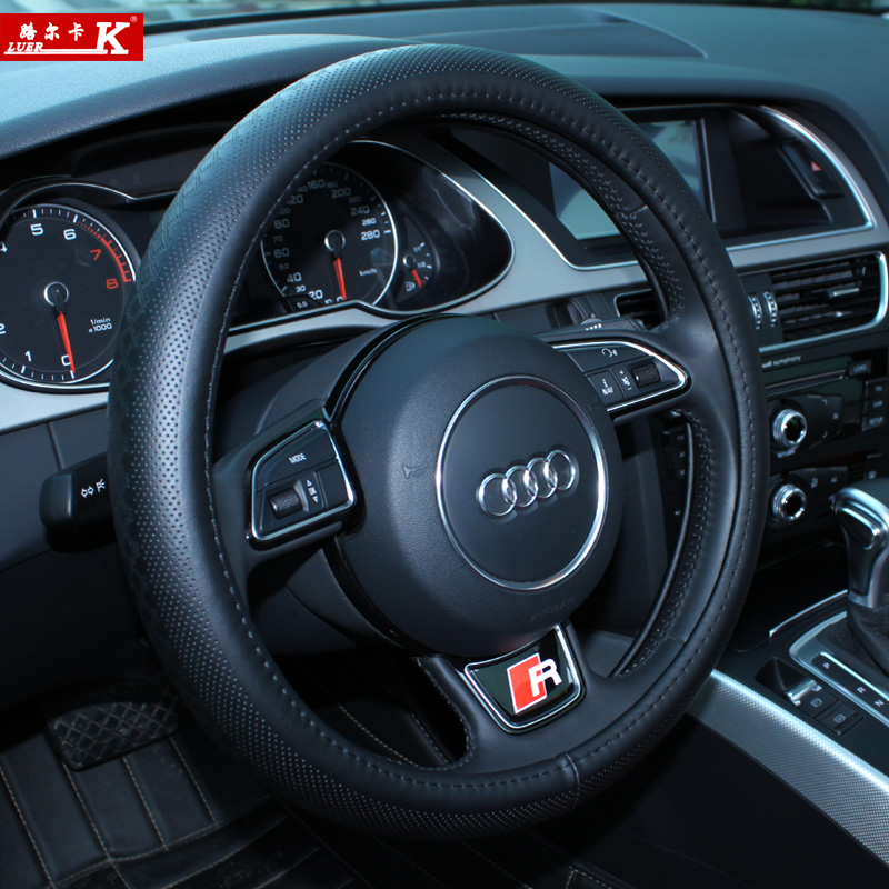 Luer ka leather steering wheel cover suitable for kia k2 k3 k5 sportage sportage freddy grips