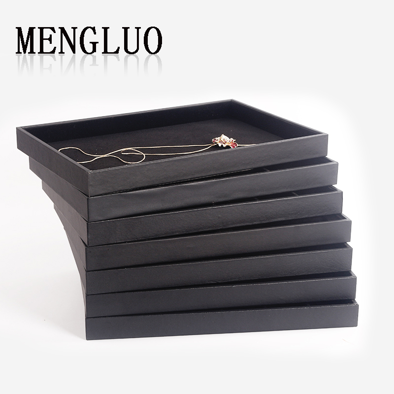 Luo meng large black rings earrings jewelry tray tray tray pendant necklace earrings jewelry storage box