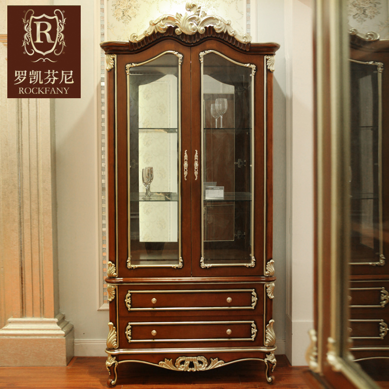 Luokaifenni american style neoclassical european solid wood double door wine cooler small wine glass wine l
