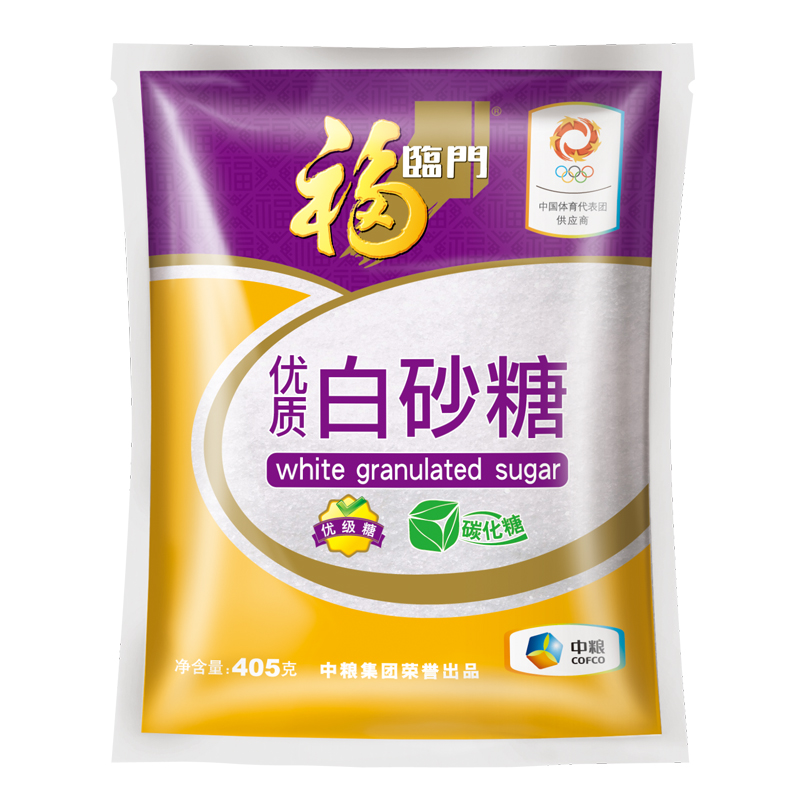 [Lynx] fortune supermarket quality white sugar 405g/bag pure white cofco produced