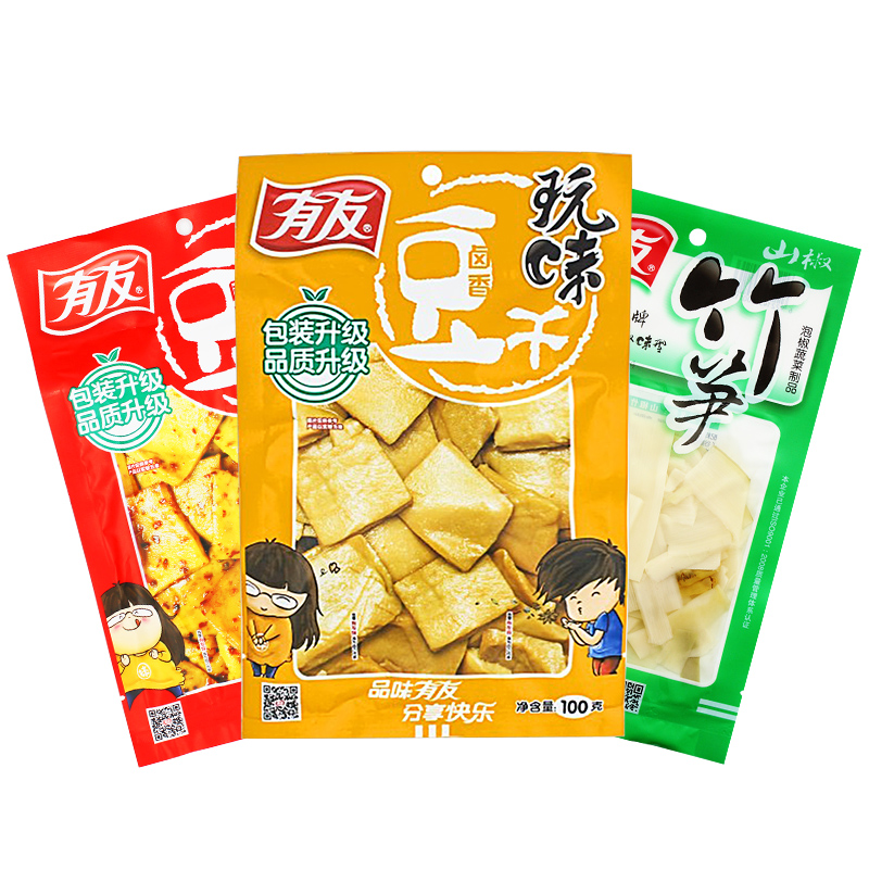 [Lynx supermarket] friends of pickled bamboo shoots + + halogen xianggan spicy tofu curd flavors combinations â