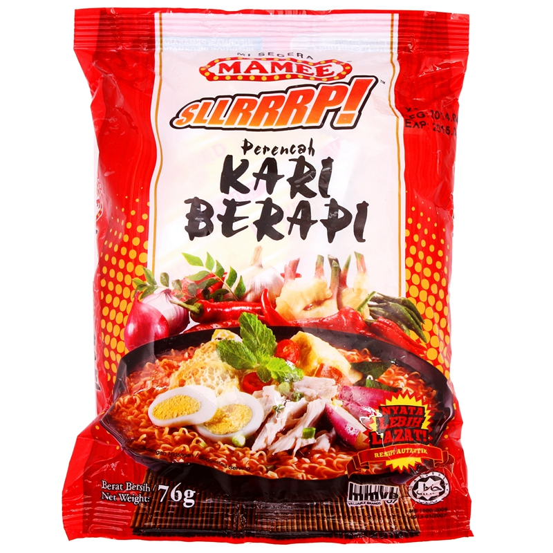 [Lynx supermarket] malaysia's import licensing mamee mummy hot curry flavor instant noodles 76g
